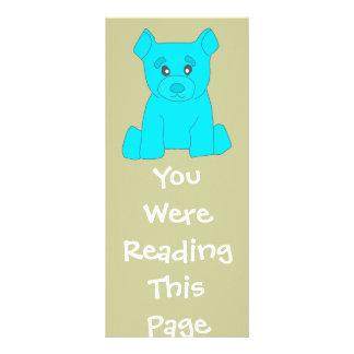 Turquoise Bear Bookmark Template Rack Card Template