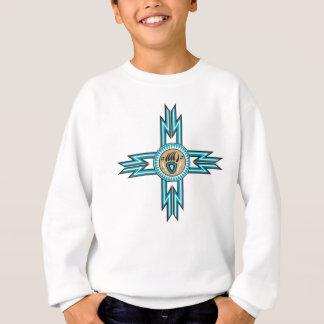 Turquoise Bear Paw Native American Kids Sweatshirt