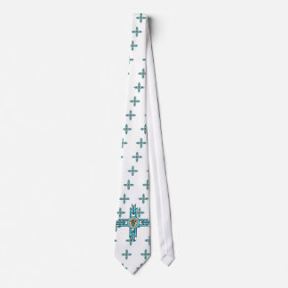 Turquoise Bear Paw Native American Tie