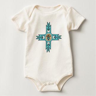 Turquoise Bear Paw Organic Baby Bodysuit