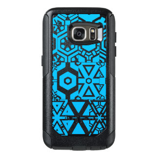 Turquoise Black Abstract 4Bernard OtterBox Samsung Galaxy S7 Case