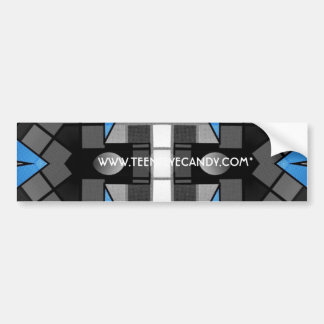 Turquoise Black Abstract Bumper Sticker