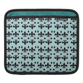 Turquoise & Black Anchors Textile  iPad Case