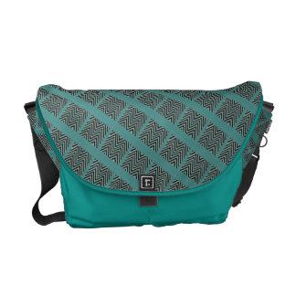 Turquoise-black-messenger-bag Messenger Bag
