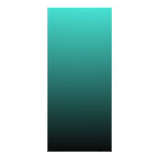 Turquoise Black Ombre Rack Card Template
