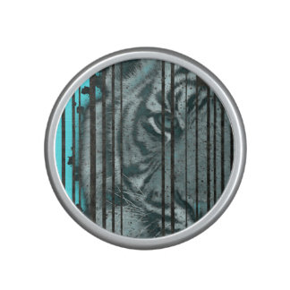 Turquoise Black Tiger Speaker