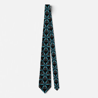 *~* Turquoise & Black Trendy Hand Drawn Pattern Tie