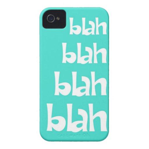 Turquoise Blah Blah Blah iPhone 4s Case Case-Mate iPhone 4 Case
