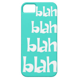 Turquoise Blah Blah Blah iPhone 5s Case iPhone 5 Case