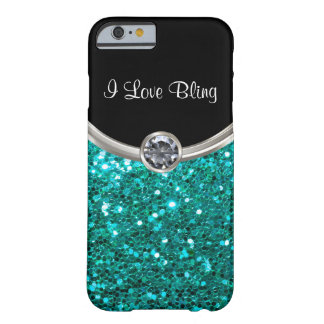 Turquoise Bling Style Barely There iPhone 6 Case
