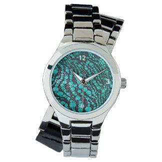 Turquoise Bling Zebra Watch