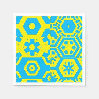 Turquoise Blue Abstract 4Jojo Disposable Napkin