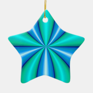 turquoise blue abstract art ceramic ornament