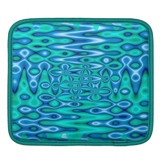 turquoise blue abstract iPad sleeve
