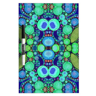 Turquoise Blue Abstract Pattern Dry-Erase Boards