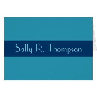 Turquoise blue Add your Name Card