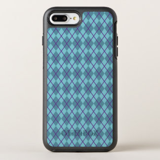 Turquoise Blue Argyle   Phone Case