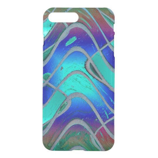 Turquoise Blue Bright Pattern iPhone 7 Plus Case