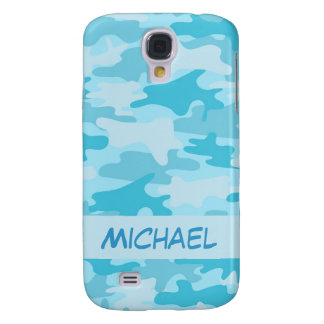 Turquoise Blue Camo Camouflage Personalized