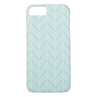 turquoise blue chevron iPhone 8/7 case