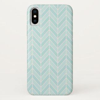 turquoise blue chevron iPhone x case