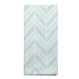turquoise blue chevron napkin