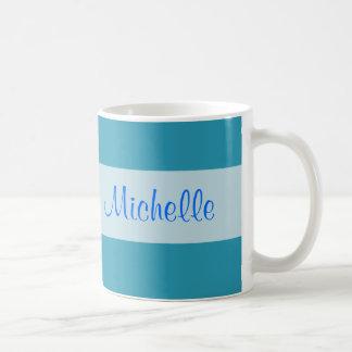 Turquoise blue coffee mug