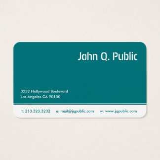 Turquoise Blue Color Business Card