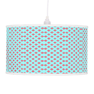 Turquoise Blue & Crimson Red Light Pendant Lamp