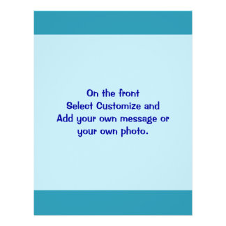 Turquoise blue custom flyer