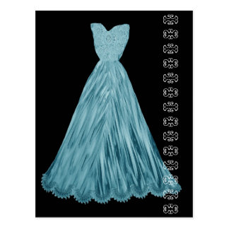 Turquoise Blue Dress with Lace Accent Postcard