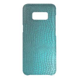 Turquoise Blue Faux Snake Skin Texture Uncommon Samsung Galaxy S8 Case