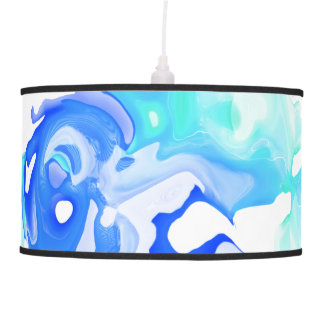 Turquoise Blue Fluid Abstract Pendant Lamp