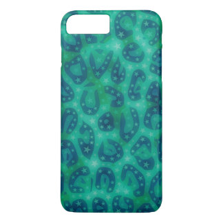 Turquoise Blue Glowing Cheetah iPhone 7 Plus Case