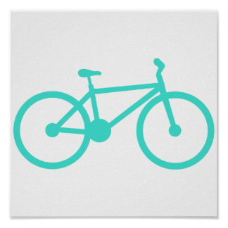 Turquoise; Blue Green Bicycle Poster