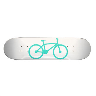 Turquoise Blue Green Bicycle Skateboards