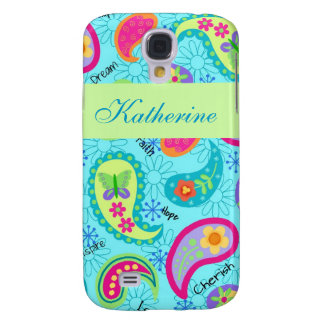 Turquoise Blue Green Modern Paisley Pattern Name