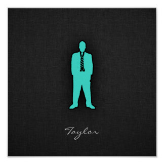 Turquoise Blue-Green SWAG Posters