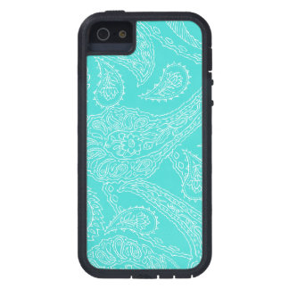 Turquoise blue henna vintage paisley girly floral case for the iPhone 5
