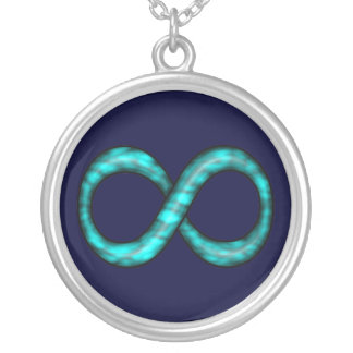 Turquoise Blue Infinity Symbol Necklace