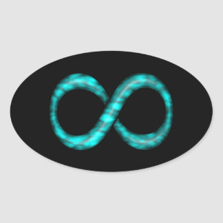 Turquoise Blue Infinity Symbol Sticker