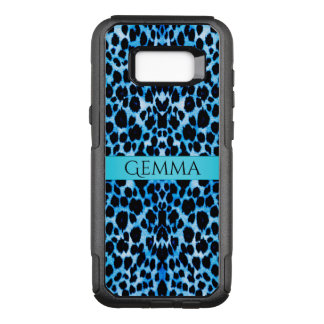 Turquoise Blue Leopard Animal OtterBox Commuter Samsung Galaxy S8+ Case