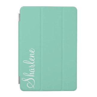 Turquoise Blue monogram iPad iPad Mini Cover