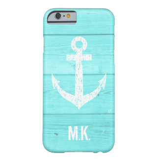 Turquoise blue nautical anchor iphone 6 case
