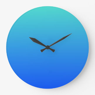 Turquoise Blue Ombre Clocks