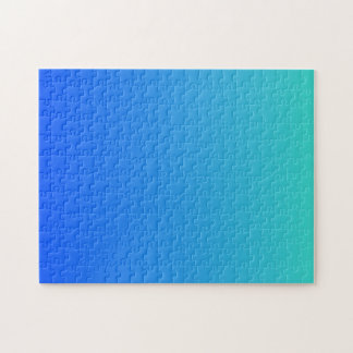 Turquoise Blue Ombre Puzzles