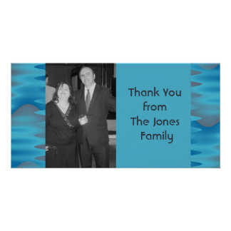 turquoise blue picture card