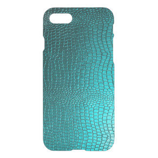 Turquoise Blue Snake Skin Texture iPhone 8/7 Case