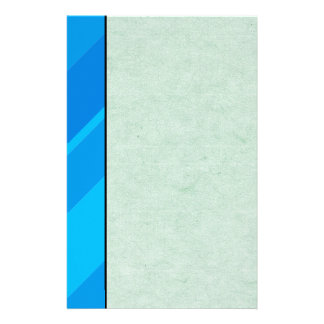 Turquoise Blue Stripes Handmade Paper Stationery