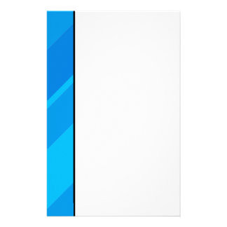 Turquoise Blue Stripes Stationery